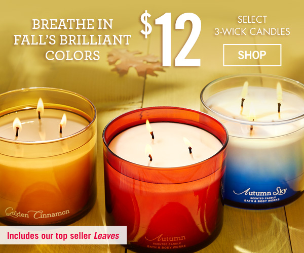 Fall's in the air $12 Select 3-Wick Candles - SHOP