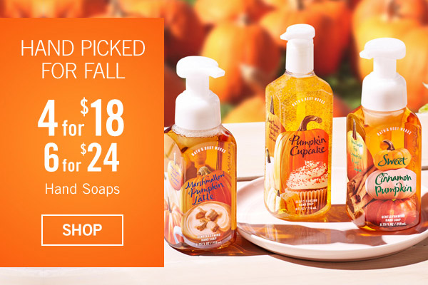 Hand Picked Pumpkins - 4 for $18 or 6 for $24 Hand Soaps - SHOP