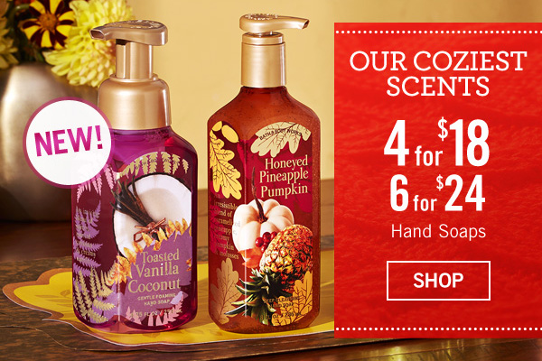 Our Coziest Scents - 4 for $18 or 6 for $24 Hand Soaps - SHOP