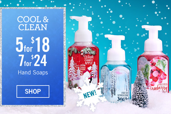 Cool and Clean - 5 for $18 or 7 for $24 Hand Soaps - SHOP