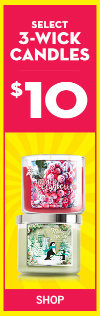 $10 Select 3-Wick Candles - SHOP
