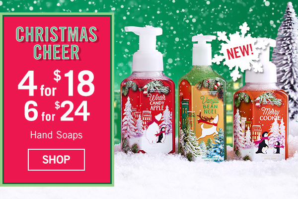 Our Favorite Kind of Cheer - 4 for $18 Hand Soaps - SHOP