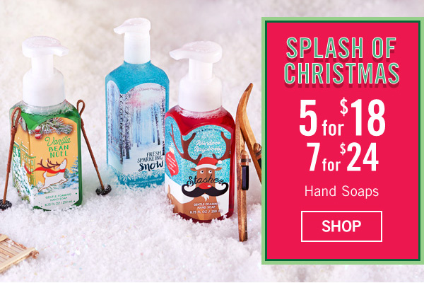 Splash of Christmas - 5 for $18 or 7 for $24 - SHOP