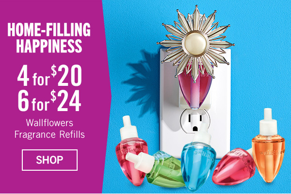 Home-Filling Happiness 4 for $20 or 6 for $24 Wallflowers Fragrance Refills - SHOP