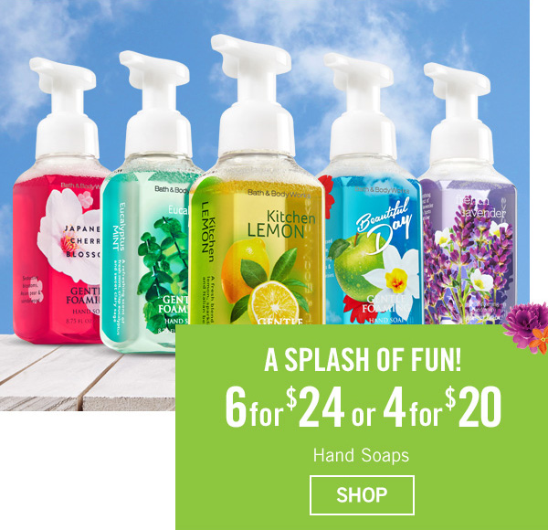 A Splash of Fun! 6 for $24 or 4 for $20 Hand Soaps - SHOP