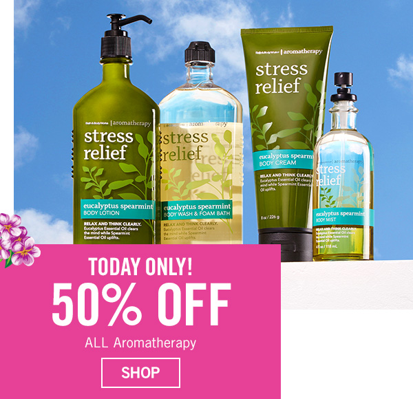 Today Only! 50% off All Aromatherapy - SHOP