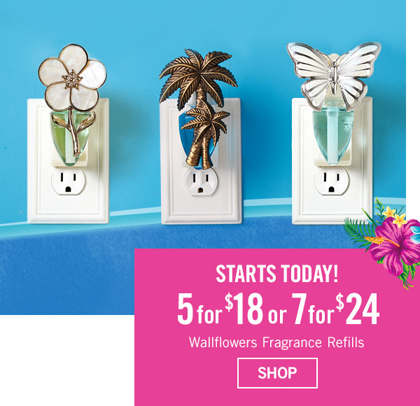 Starts Today! 5 for $18 or 7 for $24 Wallflowers Fragrance Refills - SHOP