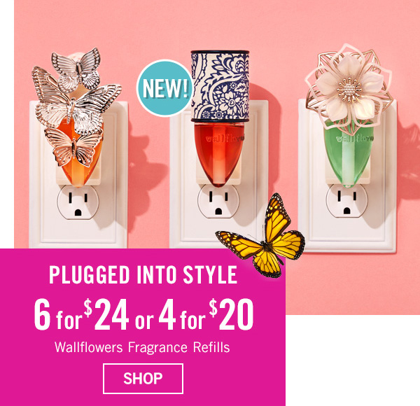 Plugged into Style - 6 for $24 or 4 for $20 Wallflowers Fragrance Refills - SHOP