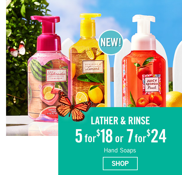 Starts Today! 5 for $18 or 6 for $24 Hand Soaps - SHOP