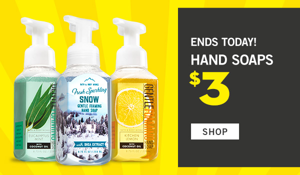 Ends Today! Select Hand Soaps $3 - SHOP