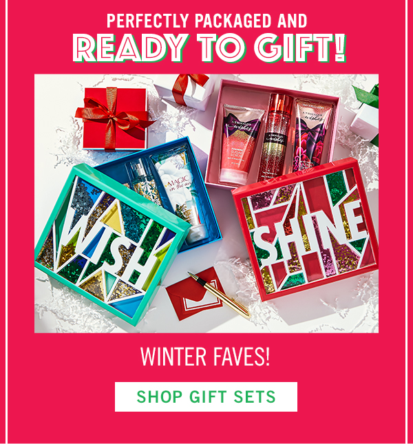 Perfectly packaged and ready to gift! Winter faves! - SHOP GIFT SETS