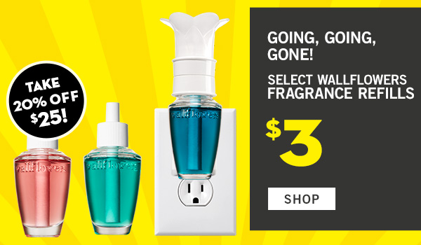 Act Quick! Select Wallflowers Fragrance Refills $3 - SHOP